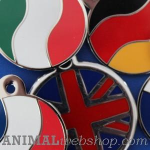 Medallas para perros Bandera de los países