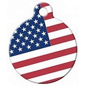 Amerikaanse vlag USA flagl hondenpenning bij Hondenpenning.net HETDIER.nl Amigos