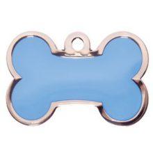 Bone blauw klein leuke hondenpenning Animalwebshop