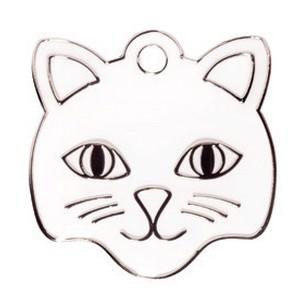 Cat face wit Bowwow meow kattenpenningen Animalwebshop