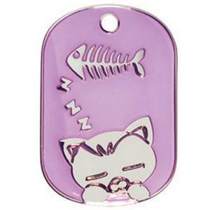 Hondenpenning.net kattenpenningen bowwow meow fashion cat FCRG paars