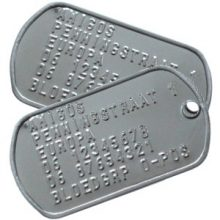 ID plaatje identiteitsplaatjes dubbel ID Tag Dog Tag RVS b